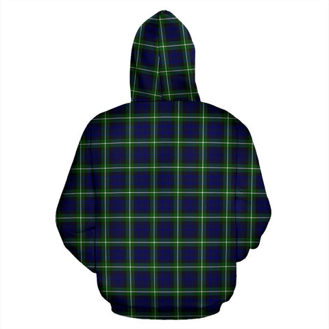 ScottishShop Lamont Tartan Clan Badge Hoodie