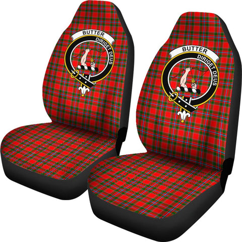 Butter Tartan Car Seat Covers Clan Badge