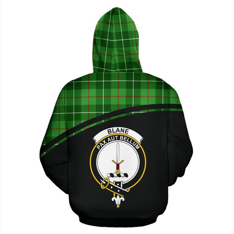 Image of Blane Tartan Custom Personalised Hoodie - Curve Style Back