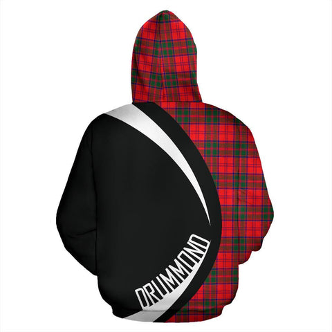 ScottishShop Tartan Zip Up Hoodie - Clan Drummond Modern Hoodie - Circle Style