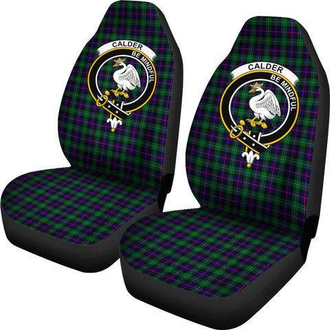 Calder Tartan Car Seat Covers Clan Badge