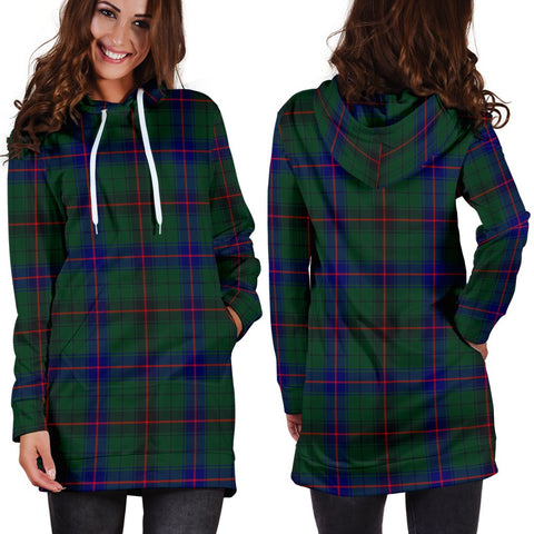 ScottishShop Hoodie Dress - Davidson Modern Tartan Hooded Dress