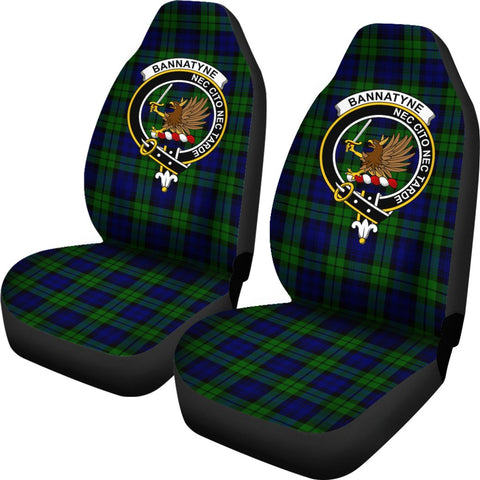 Bannatyne Tartan Car Seat Covers Clan Badge