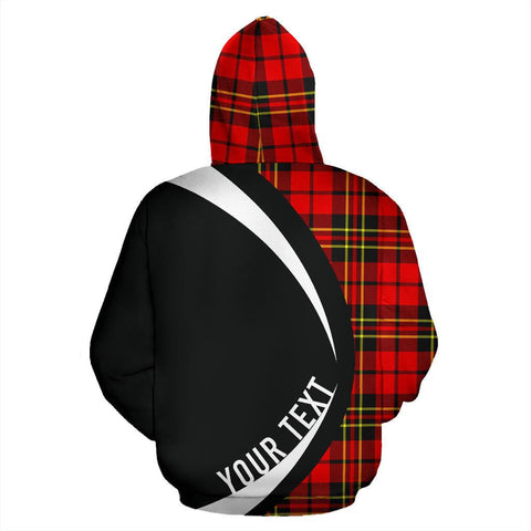 Image of Custom Hoodie - Clan Brodie Modern Plaid Tartan Zip Up Hoodie Design Your Own - Circle Style - Unisex Sizing