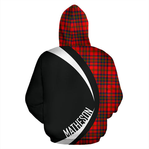ScottishShop Tartan Zip Up Hoodie - Clan Matheson Modern Hoodie - Circle Style