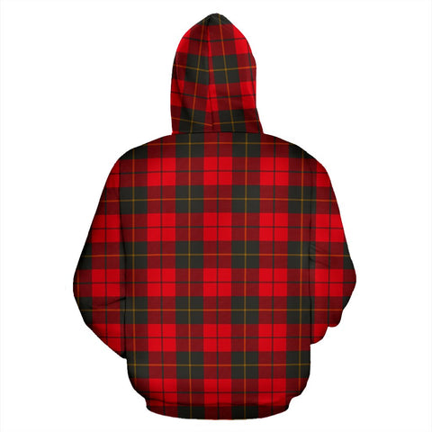 ScottishShop Wallace Weathered Tartan Clan Badge Hoodie