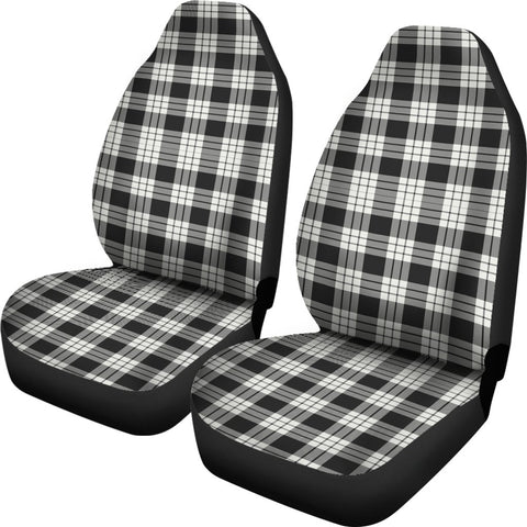 Macfarlane Black _ White Ancient Tartan Car Seat Covers