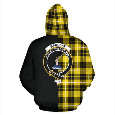 Image of Barclay Dress Modern Tartan Zip Up Hoodie Half Of Me - Black & Tartan