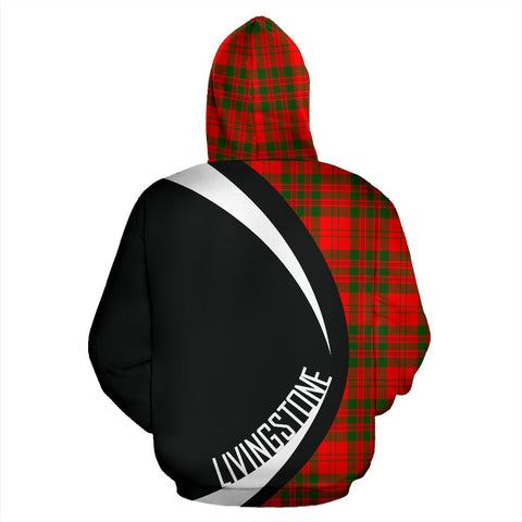 Image of Tartan Zip Up Hoodie - Clan Livingstone Modern Zip Up Hoodie - Circle Style Unisex