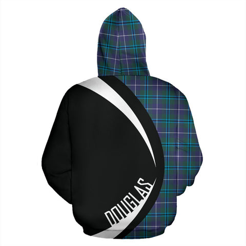 Image of ScottishShop Tartan Zip Up Hoodie - Clan Douglas Modern Hoodie - Circle Style