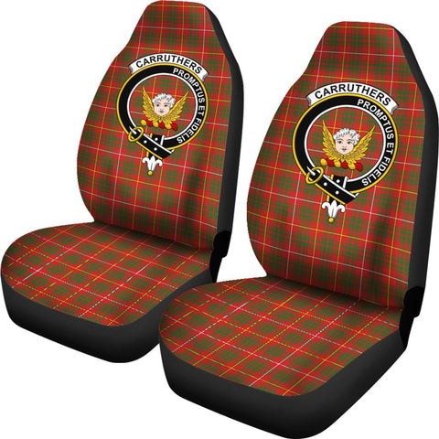 Carruthers Tartan Car Seat Covers Clan Badge