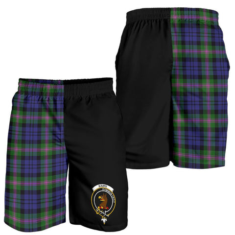 Image of Tartan Mens Shorts - Clan Baird Crest & Plaid Shorts - Half Of Me Style