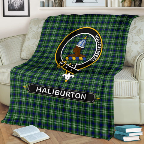 Haliburton Crest Tartan Blanket | Tartan Home Decor | ScottishShop