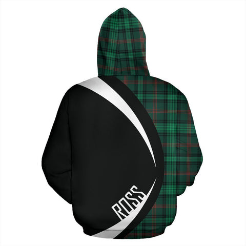 Image of ScottishShop Tartan Zip Up Hoodie - Clan Ross Hunting Modern Hoodie - Circle Style