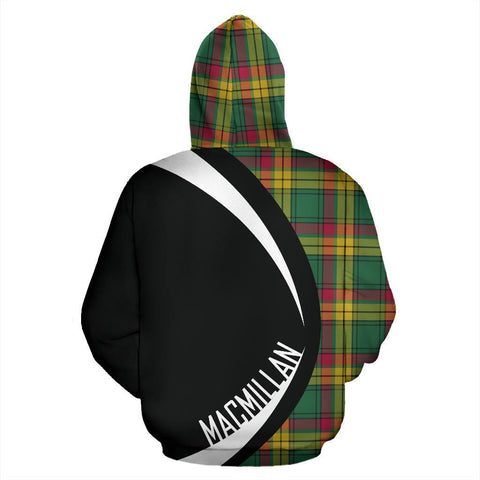 Image of ScottishShop Tartan Zip Up Hoodie - Clan Macmillan Old Ancient Hoodie - Circle Style