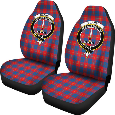 Blane Tartan Car Seat Covers Clan Badge