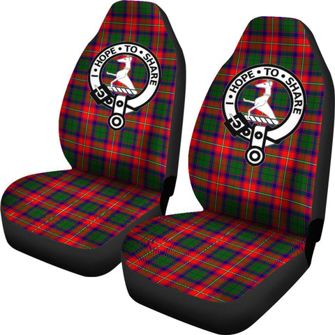Roxburgh Tartan Car Seat Covers - Clan Badge