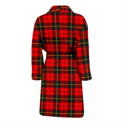 Image of ScottishShop Wallace Hunting - Red Bathrobe | Men Tartan Plaid Bathrobe