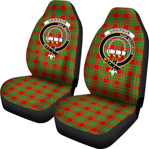 Grierson Tartan Car Seat Covers - Clan Badge