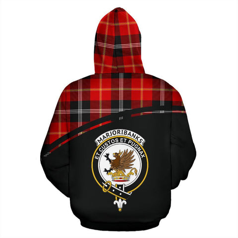 Marjoribanks Tartan Custom Personalised Hoodie - Curve Style Back