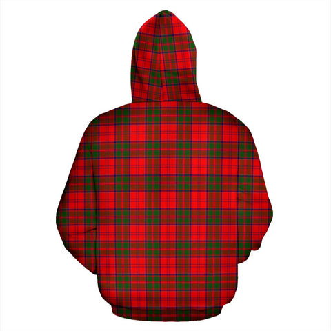Image of Grant Tartan Clan Badge Hoodie HJ4