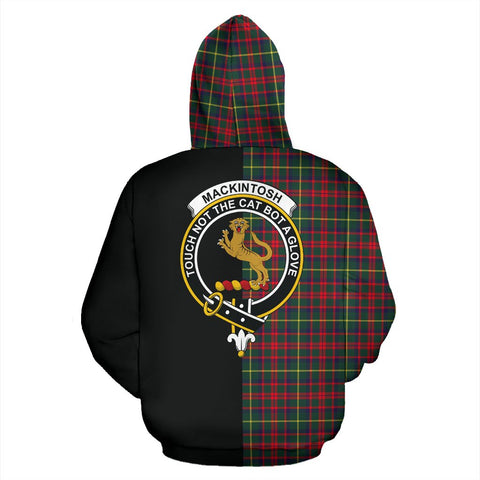 Image of MacKintosh Hunting Modern Tartan Zip Up Hoodie Half Of Me - Black & Tartan