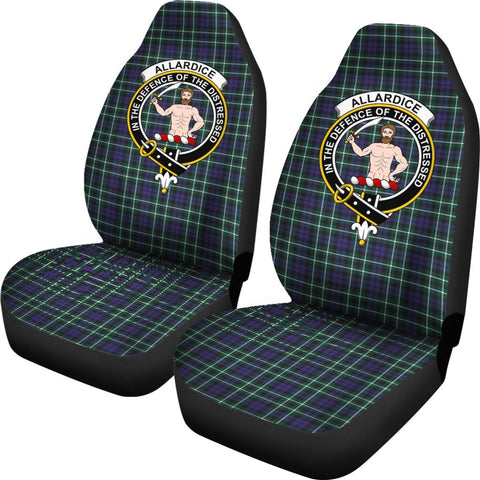 Allardice Tartan Car Seat Covers Clan Badge