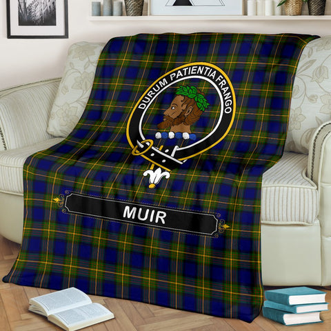 Muir Crest Tartan Blanket | Tartan Home Decor | ScottishShop