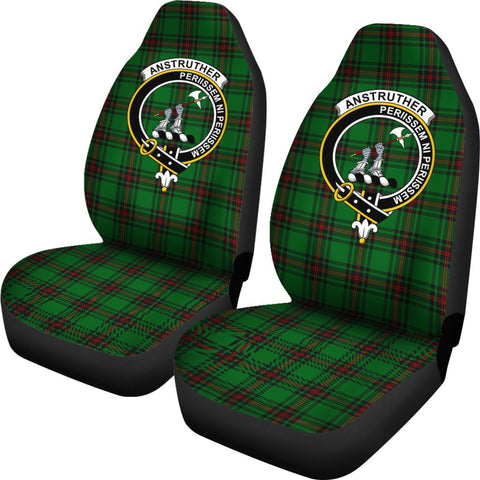 Anstruther Tartan Car Seat Covers Clan Badge
