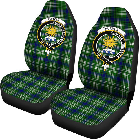 Purves Tartan Car Seat Covers - Clan Badge