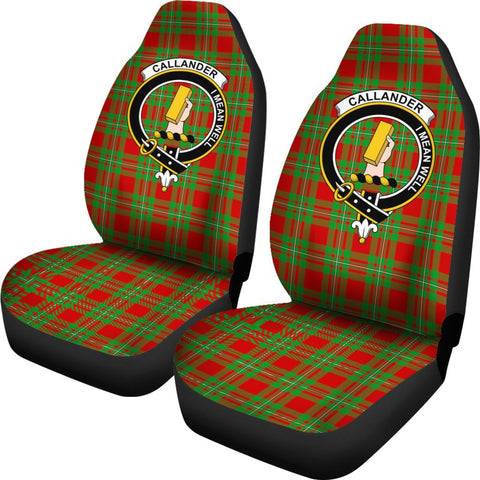 Callander Tartan Car Seat Covers Clan Badge