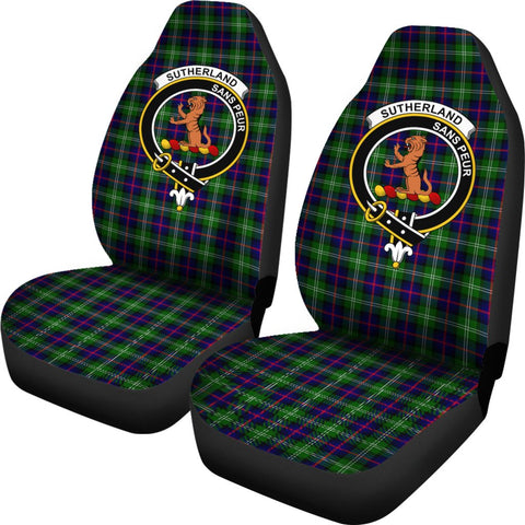 Sutherland Ii Tartan Car Seat Covers - Clan Badge