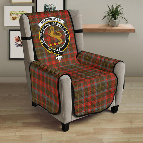 Clan MacKintosh Hunting Weathered Plaid & Crest Tartan Sofa Protector - 23 Inches