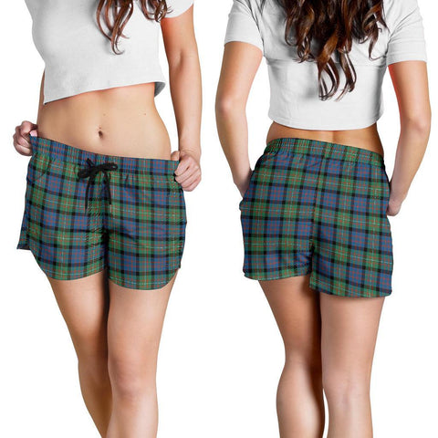 Macdonnell Of Glengarry Ancient Tartan Shorts For Women Th8