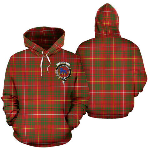 Image of Bruce Tartan Clan Badge Hoodie HJ4