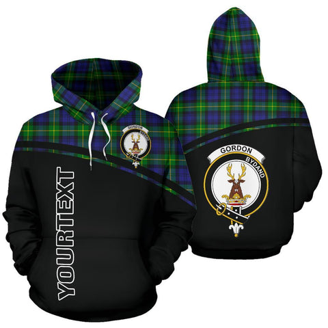 Custom Hoodie - Clan Tartan Gordon Hoodie Make Your Own - Curve Style - Unisex Sizing