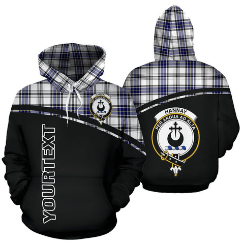 Image of Custom Hoodie - Clan Tartan Hannay Hoodie Make Your Own - Curve Style - Unisex Sizing