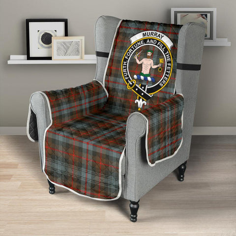 Clan Murray of Atholl Weathered Plaid & Crest Tartan Sofa Protector - 23 Inches