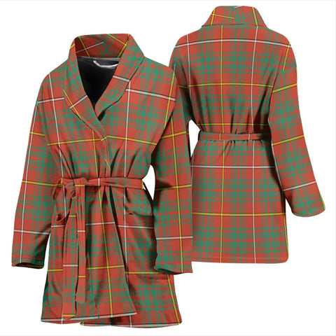 Bruce Ancient Bathrobe | Women Tartan Plaid Bathrobe | Universal Fit