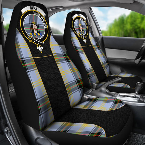 Seat Cover - Tartan Crest Bell Of The Borders Tartan Car Seat Cover Clan Badge - Special Version - Universal Fit