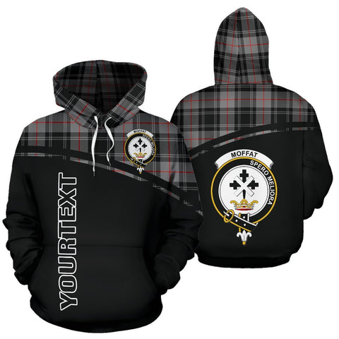 Custom Hoodie - Clan Tartan Moffat Hoodie Make Your Own - Curve Style - Unisex Sizing