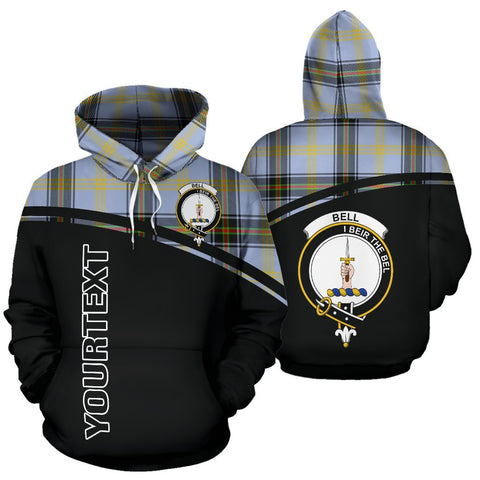 Custom Hoodie - Clan Tartan Bell Hoodie Make Your Own - Curve Style - Unisex Sizing
