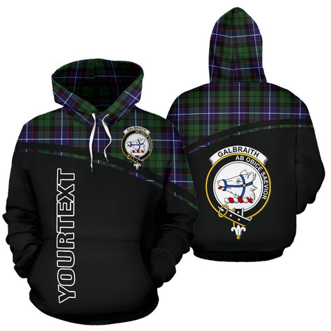 Custom Hoodie - Clan Tartan Galbraith Hoodie Make Your Own - Curve Style - Unisex Sizing