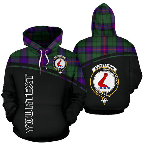 Custom Hoodie - Clan Tartan Armstrong Hoodie Make Your Own - Curve Style - Unisex Sizing