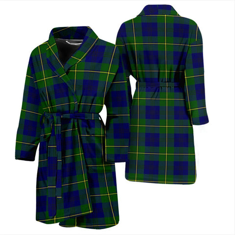 Johnston Modern Bathrobe | Men Tartan Plaid Bathrobe | Universal Fit