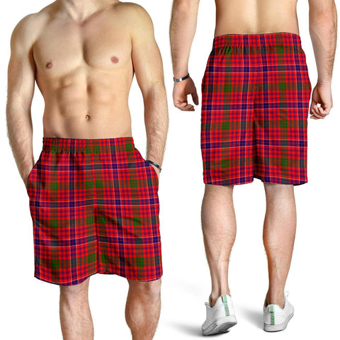 Tartan Mens Shorts - Clan MacRae Modern Plaid Shorts