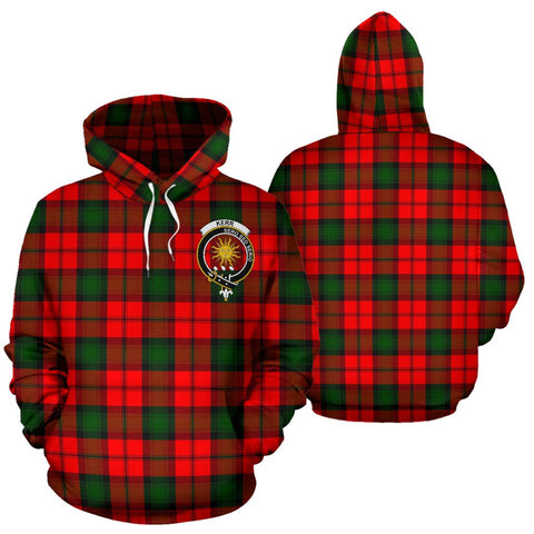 ScottishShop Kerr Tartan Clan Badge Hoodie
