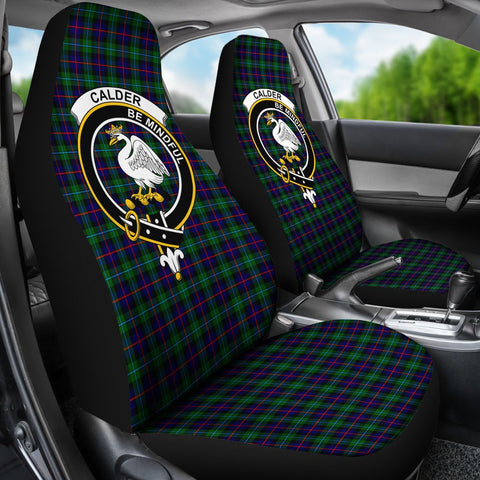 ScottishShop Seat Cover - Tartan Crest Calder Car Seat Cover Clan Badge - Universal Fit