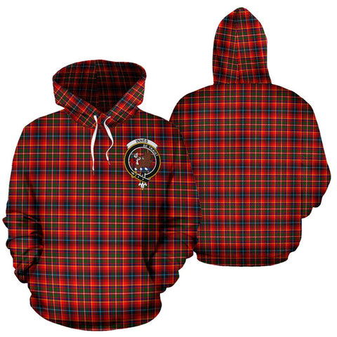 ScottishShop Innes Tartan Clan Badge Hoodie