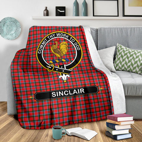 Sinclair Crest Tartan Blanket | Tartan Home Decor | ScottishShop